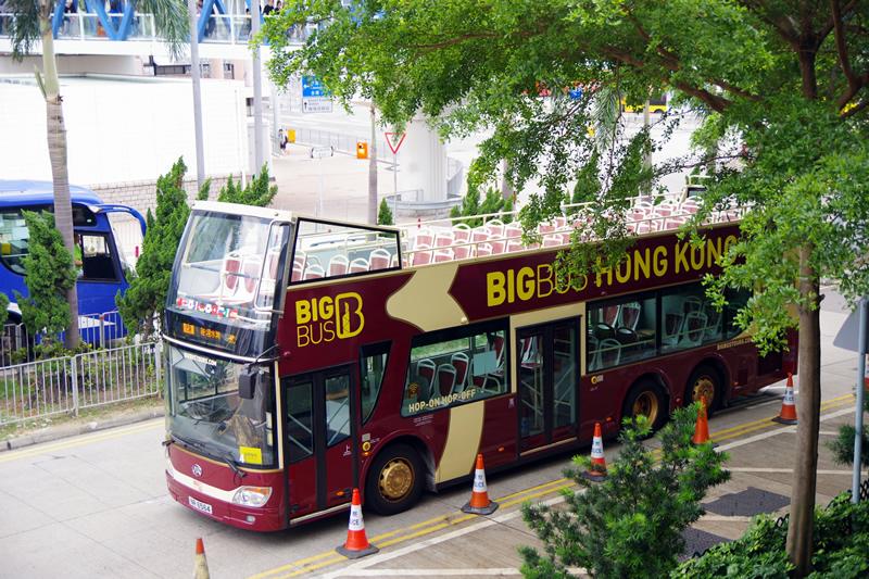 香港の2階建てバス