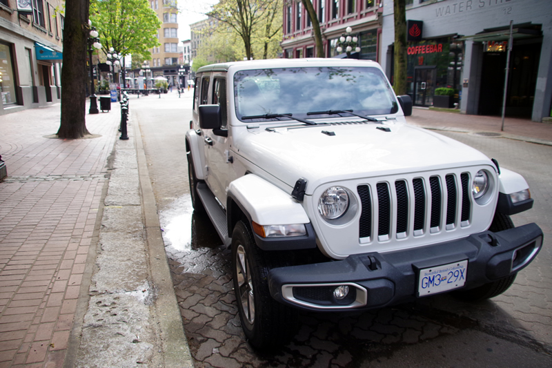JEEP Wrangler at Gastown in Vancouver