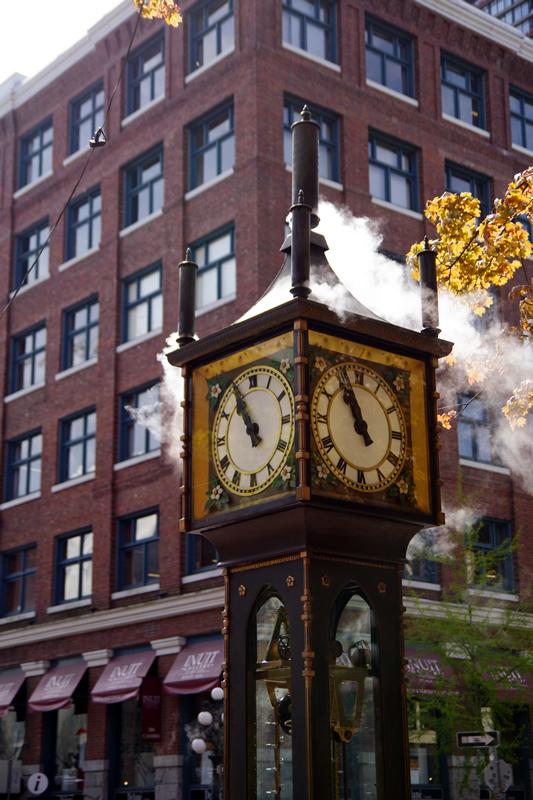 ガスタウンのシンボル、水蒸気時計