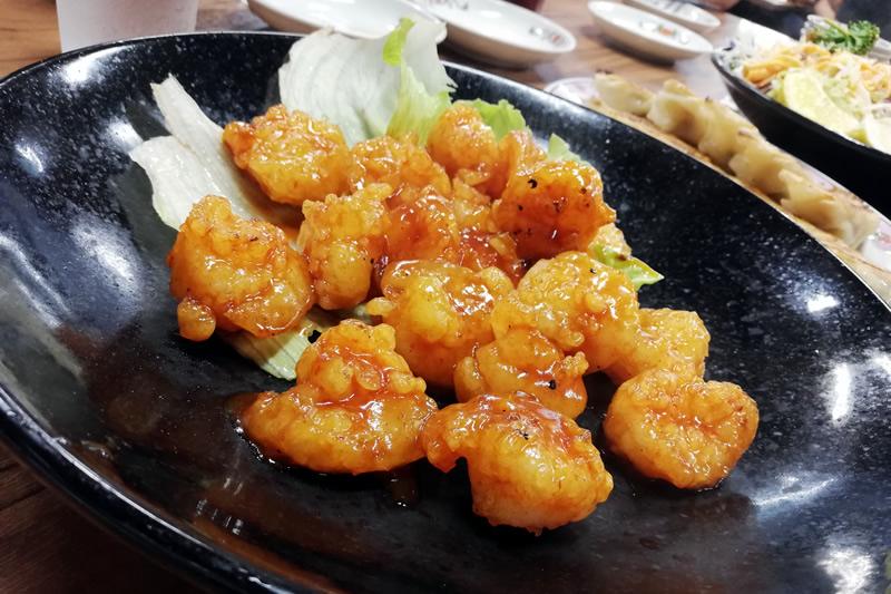 餃子の王将 浜松店 エビチリ
